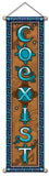 COEXIST AFFIRMATION BANNER WALL HANGING