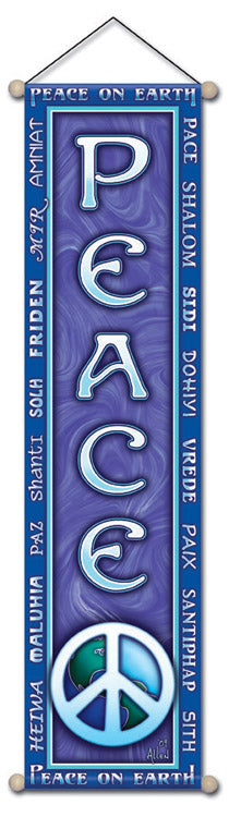 PEACE  AFFIRMATION BANNER WALL HANGING