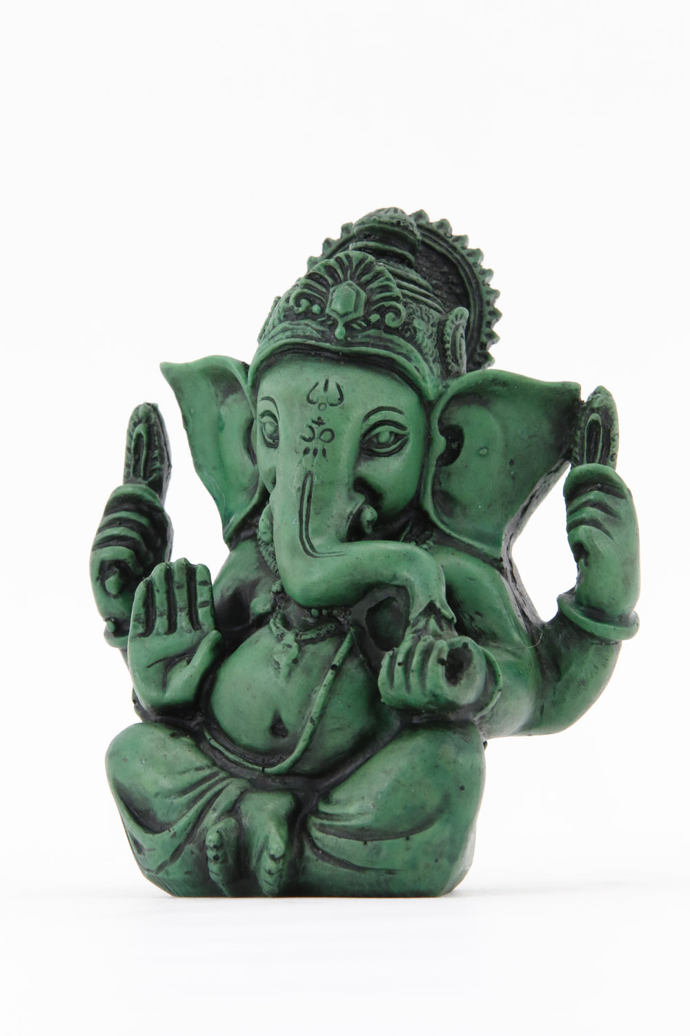 GANESHA AURA COLORED STATUE LARGE SIZE SIDE VIEW