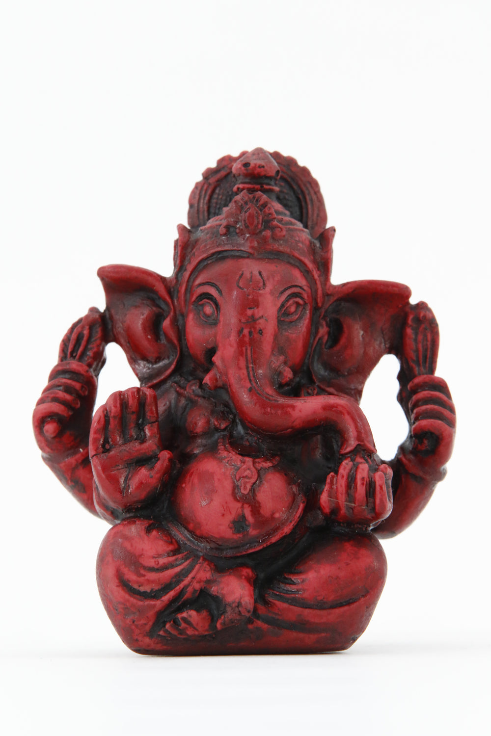 GANESHA AURA COLORED STATUE MEDIUM SIZE FRONT VIEW