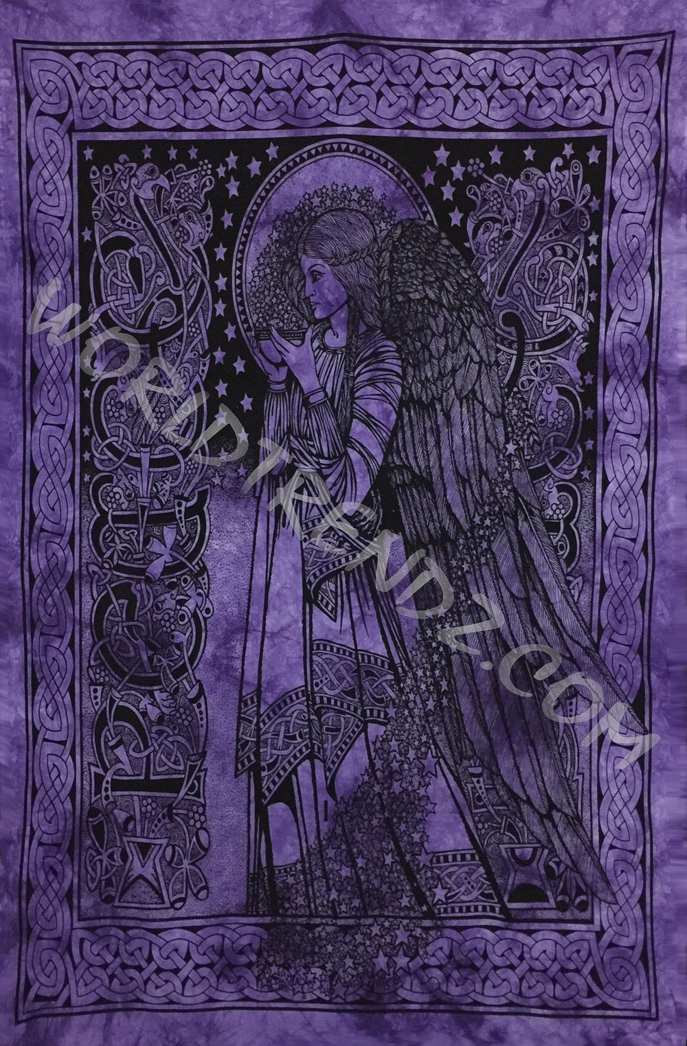 CELTIC ANGEL TAPESTRY PURPLE