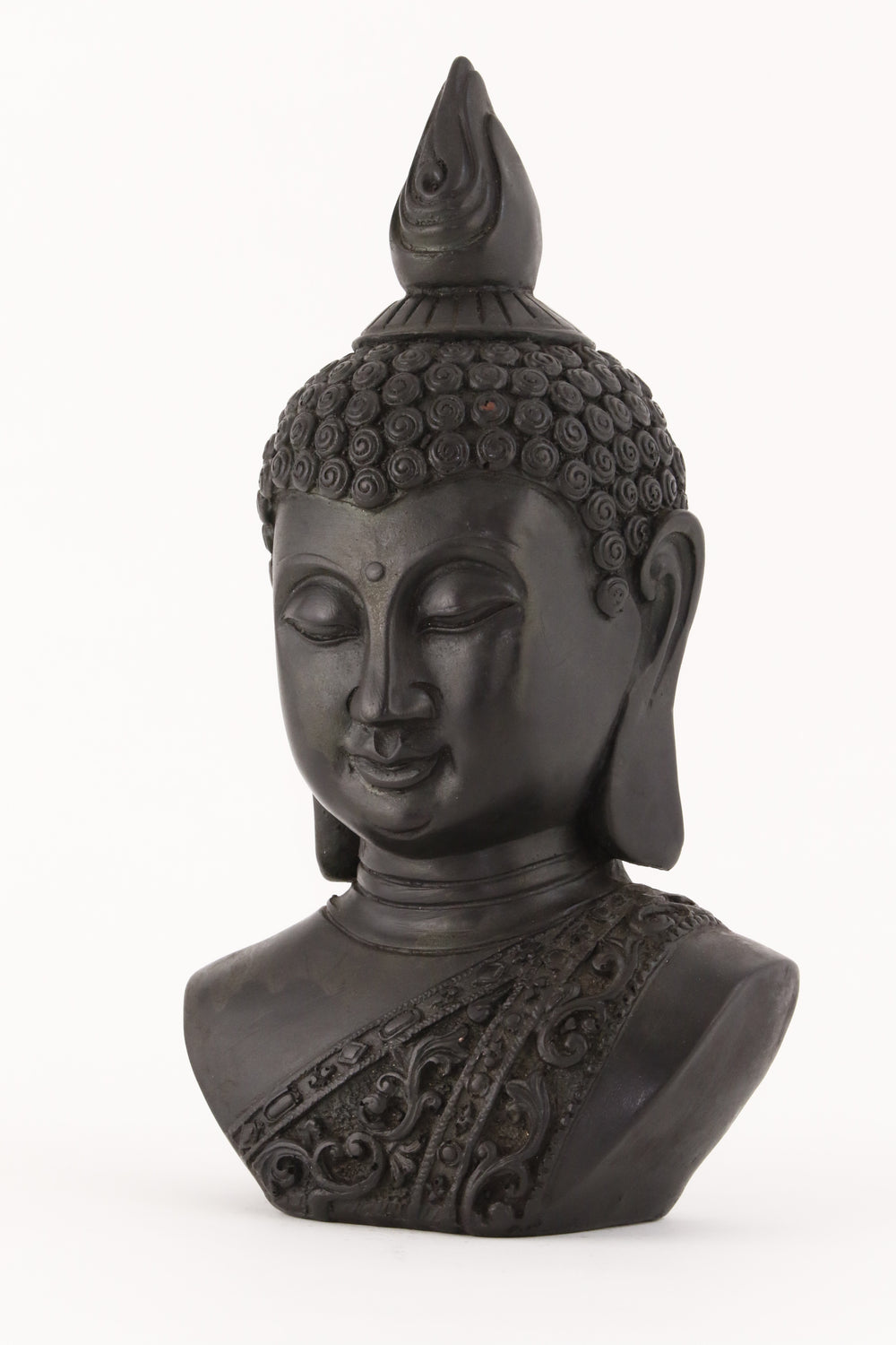 BUDDHA BUST STATUE DARK SIDE VIEW