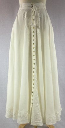 Button-up SKIRT OFF WHITE Front View Detail