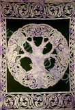 CELTIC KNOT TREE OF LIFE  TAPESTRY PURPLE