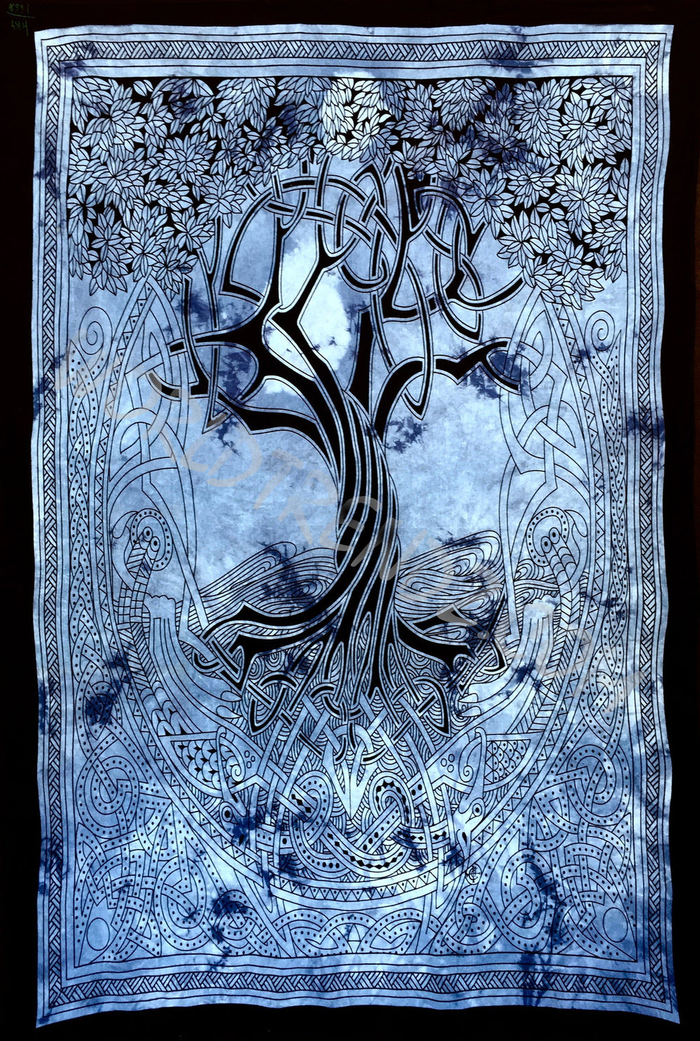 TREE OF LIFE CELTIC TAPESTRY BLUE