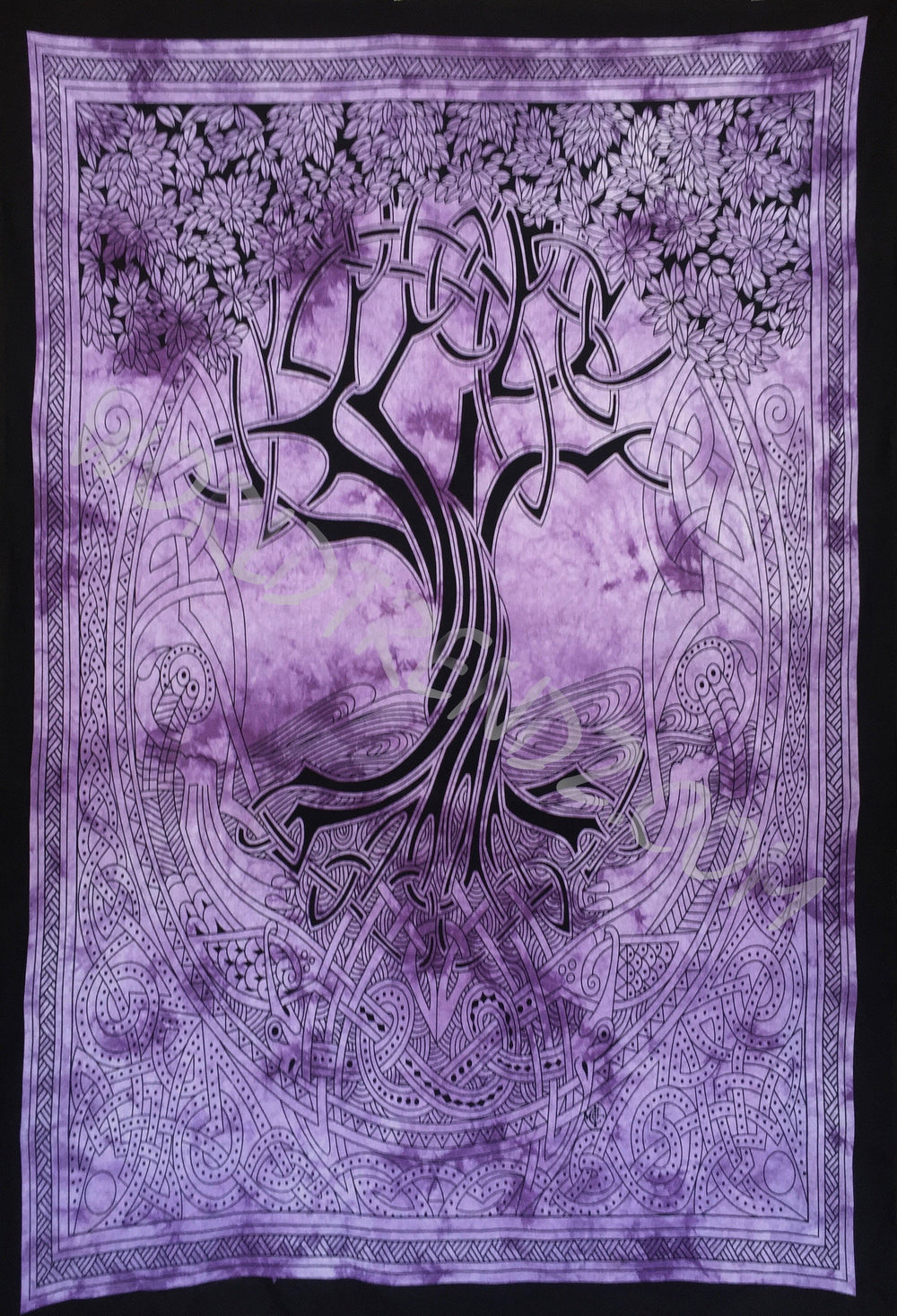 TREE OF LIFE CELTIC TAPESTRY PURPLE