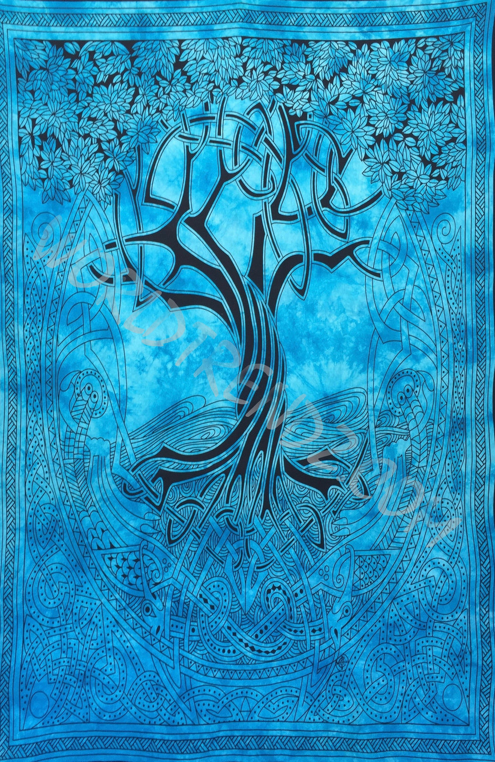 TREE OF LIFE CELTIC TAPESTRY TURQUOISE