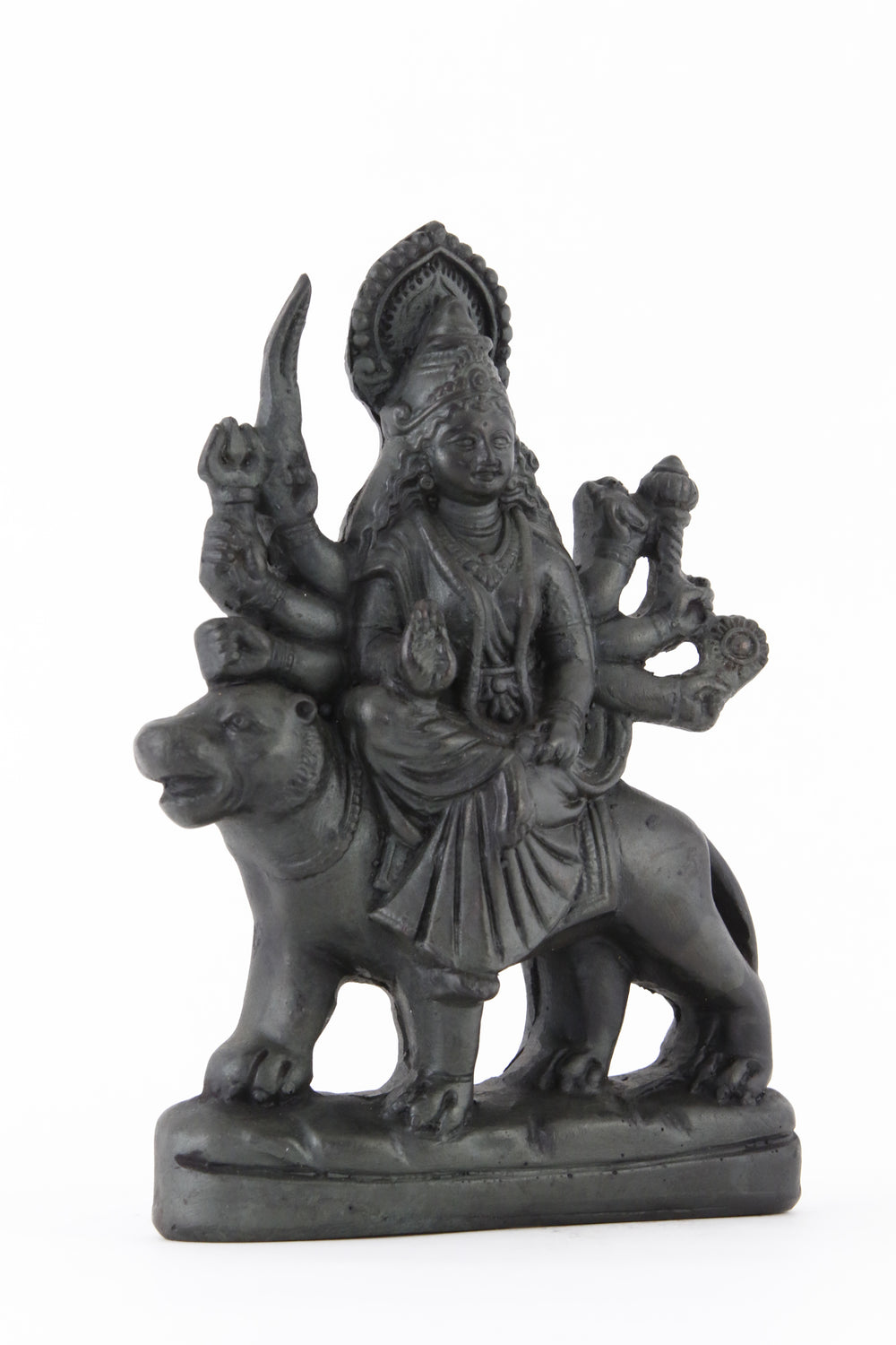 GODDESS DURGA STATUE DARK SIDE VIEW