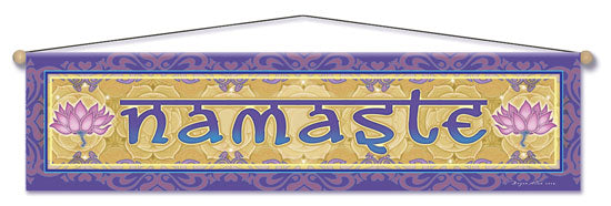NAMASTE LOTUS ENTRY WAY AFFIRMATION BANNER