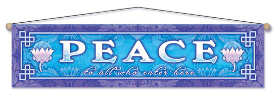 PEACE ENTRY WAY AFFIRMATION BANNER