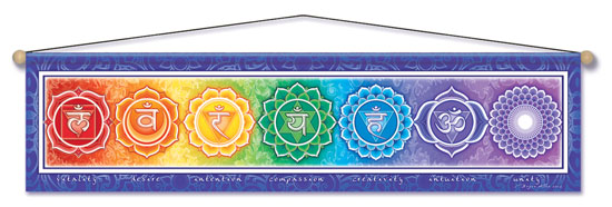 CHAKRA ENERGY ENTRY WAY AFFIRMATION BANNER