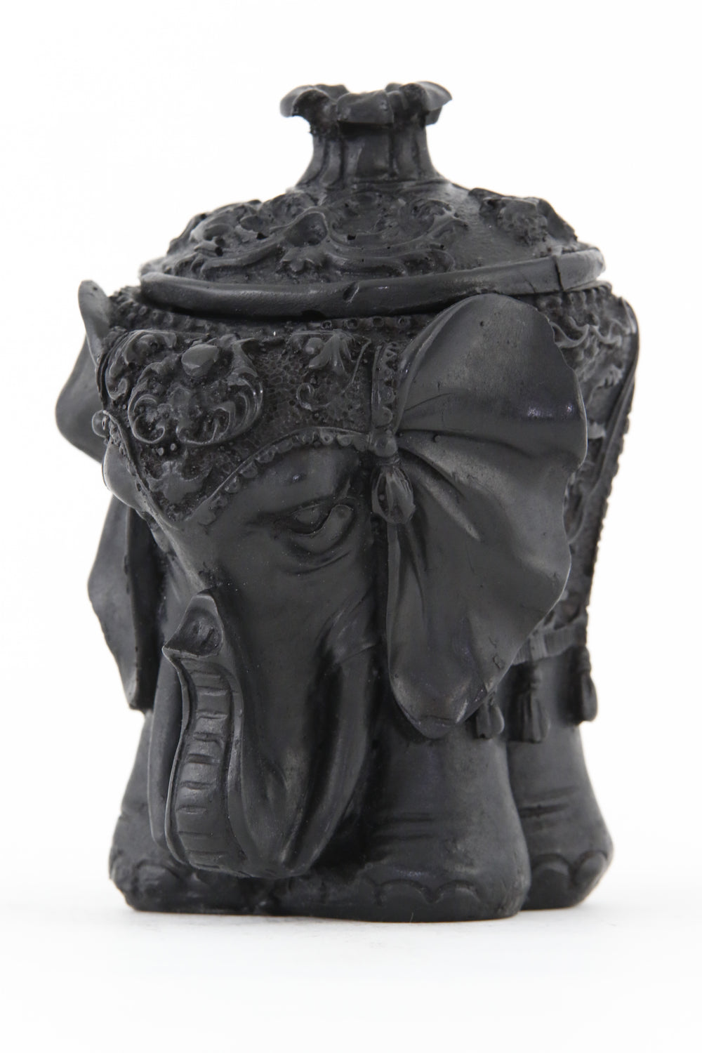 ELEPHANT BOX STATUE ROUND DARK SIDE 1 VIEW