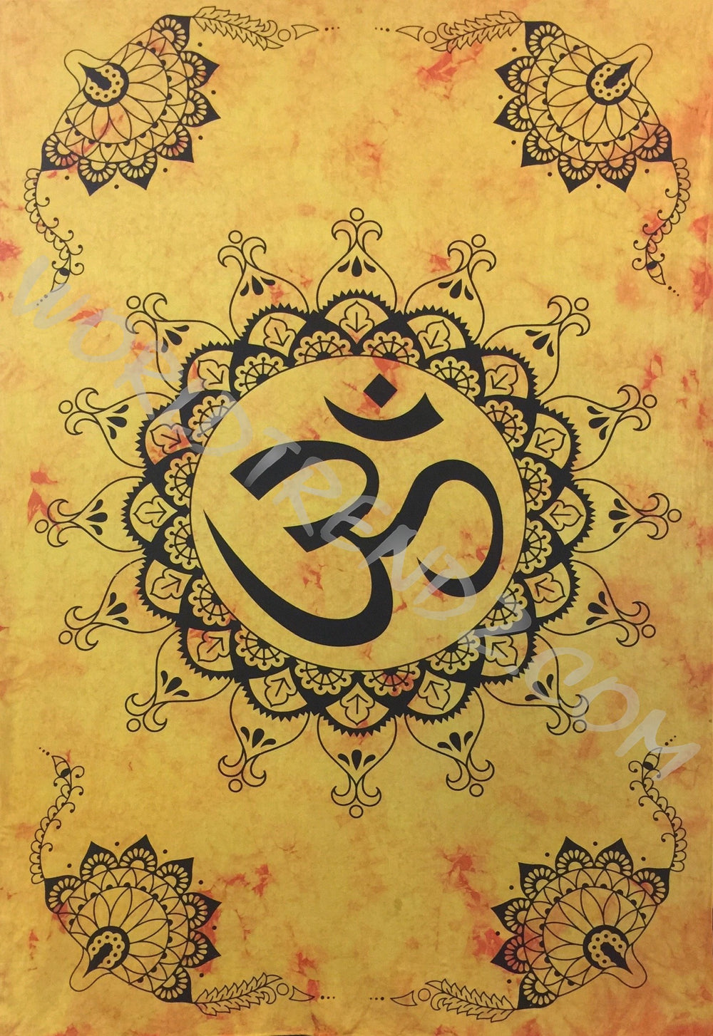 OM LOTUS Lotus Corners Design TAPESTRY