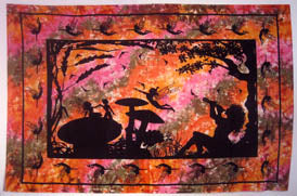 FAIRY ALICE IN WONDERLAND TAPESTRY ORANGE