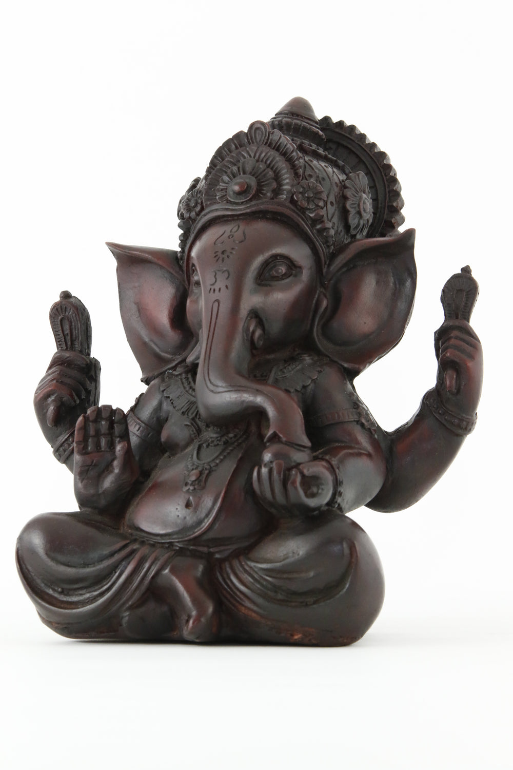 GANESHA AURA STATUE DARK XL SIDE VIEW