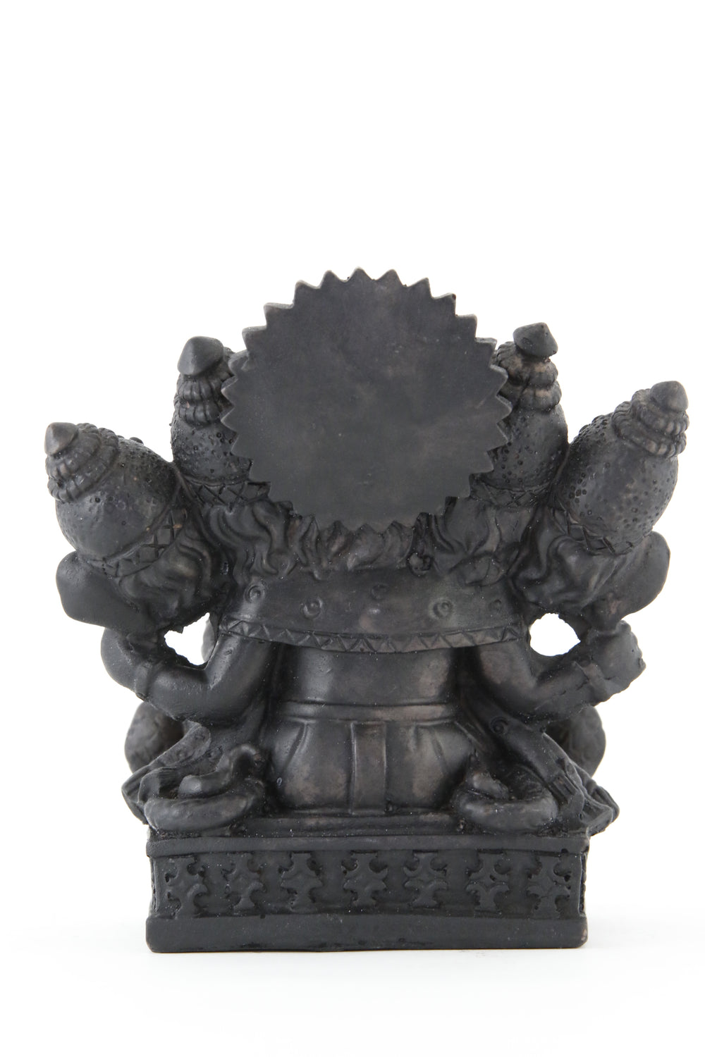 GANESHA MULTI HEAD STATUE DARK BACK VIEW