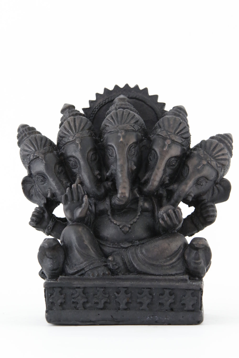 GANESHA MULTI HEAD STATUE DARK FRONT VIEW