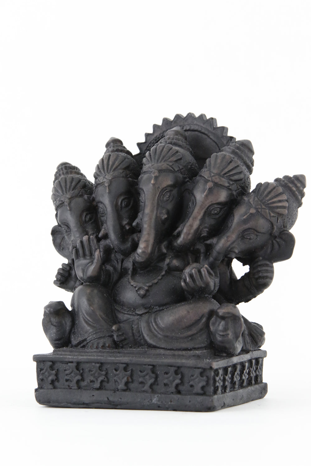GANESHA MULTI HEAD STATUE DARK SIDE VIEW