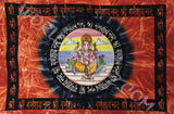 GANESHA TRADITIONAL TAPESTRY HORIZONTAL ORANGE MULTI