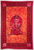 GANESHA TRADITIONAL TAPESTRY RED