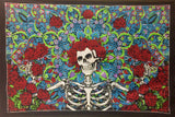 GRATEFUL DEAD TAPESTRY SKELETON WITH ROSES