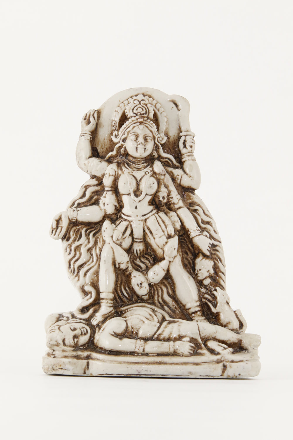 GODDESS KALI STANDING STATUE OFF-WHITE FRONT VIEW