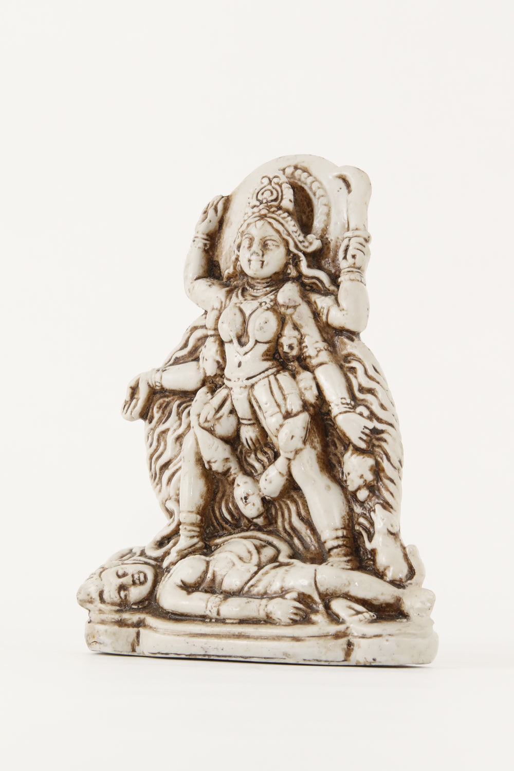 GODDESS KALI STANDING STATUE OFF-WHITE SIDE VIEW