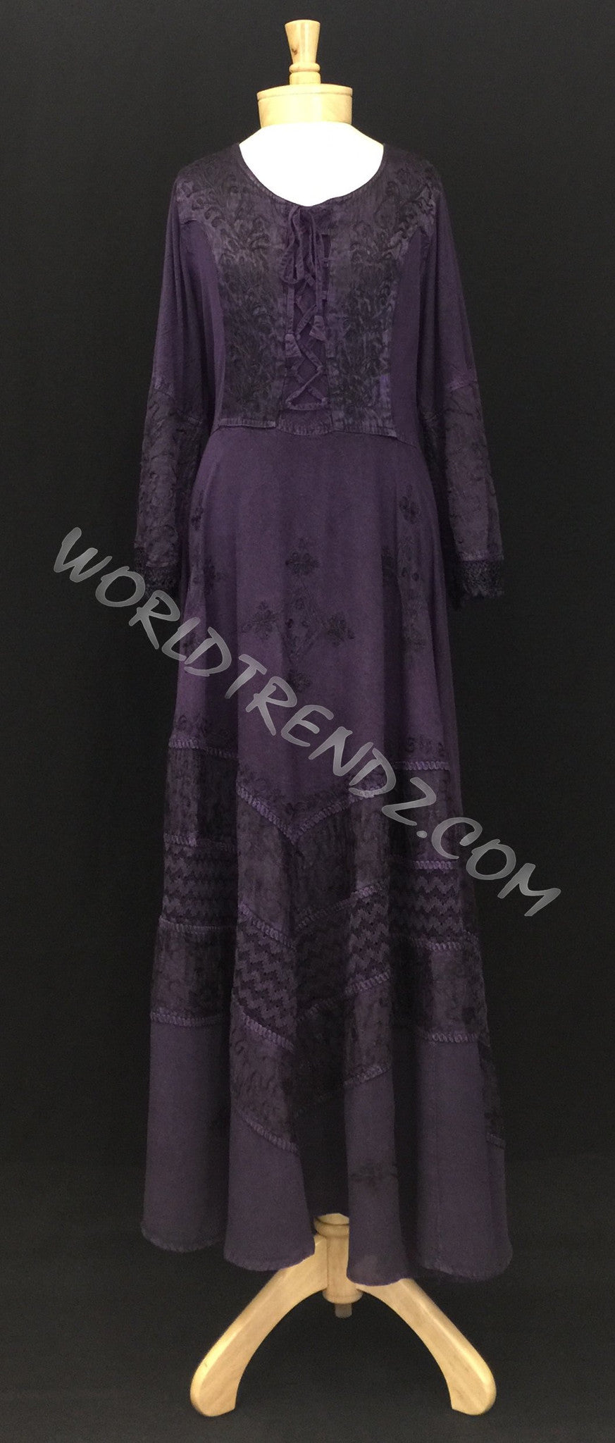 LACE-UP MEDIEVAL DRESS PURPLE