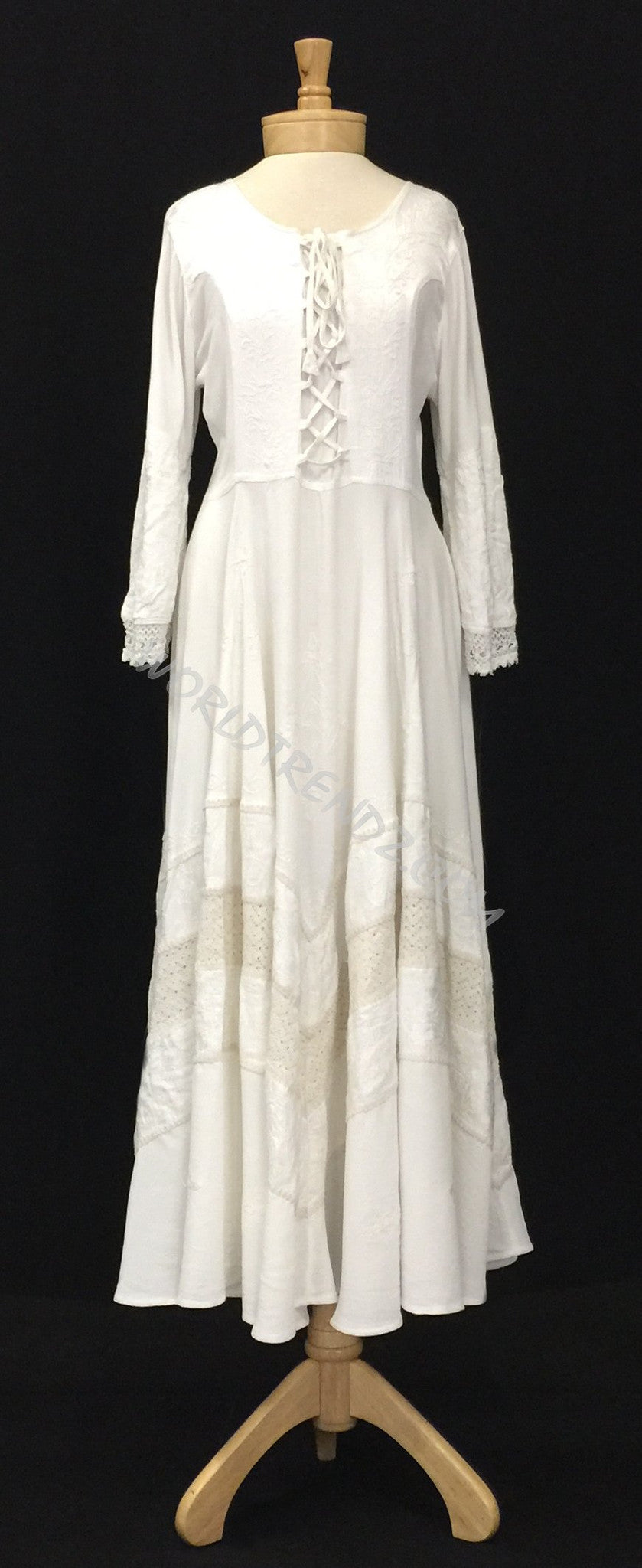 LACE-UP MEDIEVAL DRESS WHITE