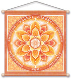 SACRAL CHAKRA ORANGE MEDITATION BANNER WALL HANGING