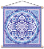 THIRD EYE CHAKRA INDIGO MEDITATION BANNER WALL HANGING