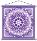 CROWN CHAKRA VIOLET MEDITATION BANNER WALL HANGING