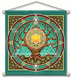 ANCIENT WISDOM TEMPLE MEDITATION BANNER WALL HANGING