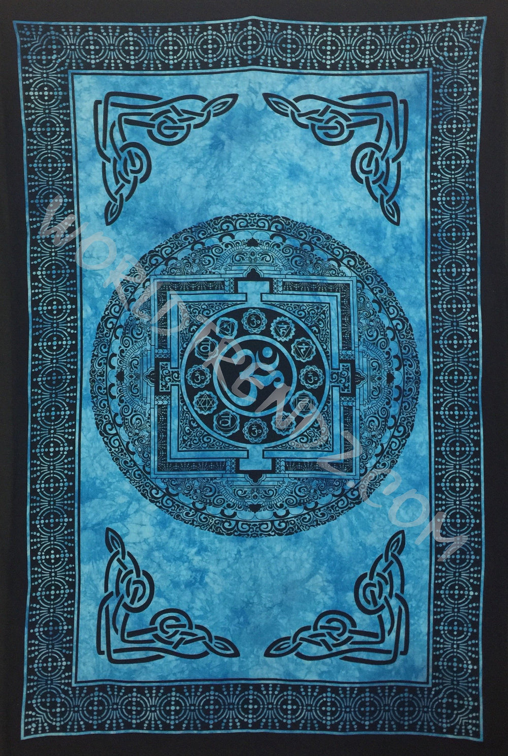 OM CHAKRA TAPESTRY TURQUOISE