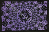 OM PSCHEDELIC TAPESTRY PURPLE