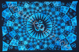 OM PSYCHEDLIC TAPESTRY TURQUOISE