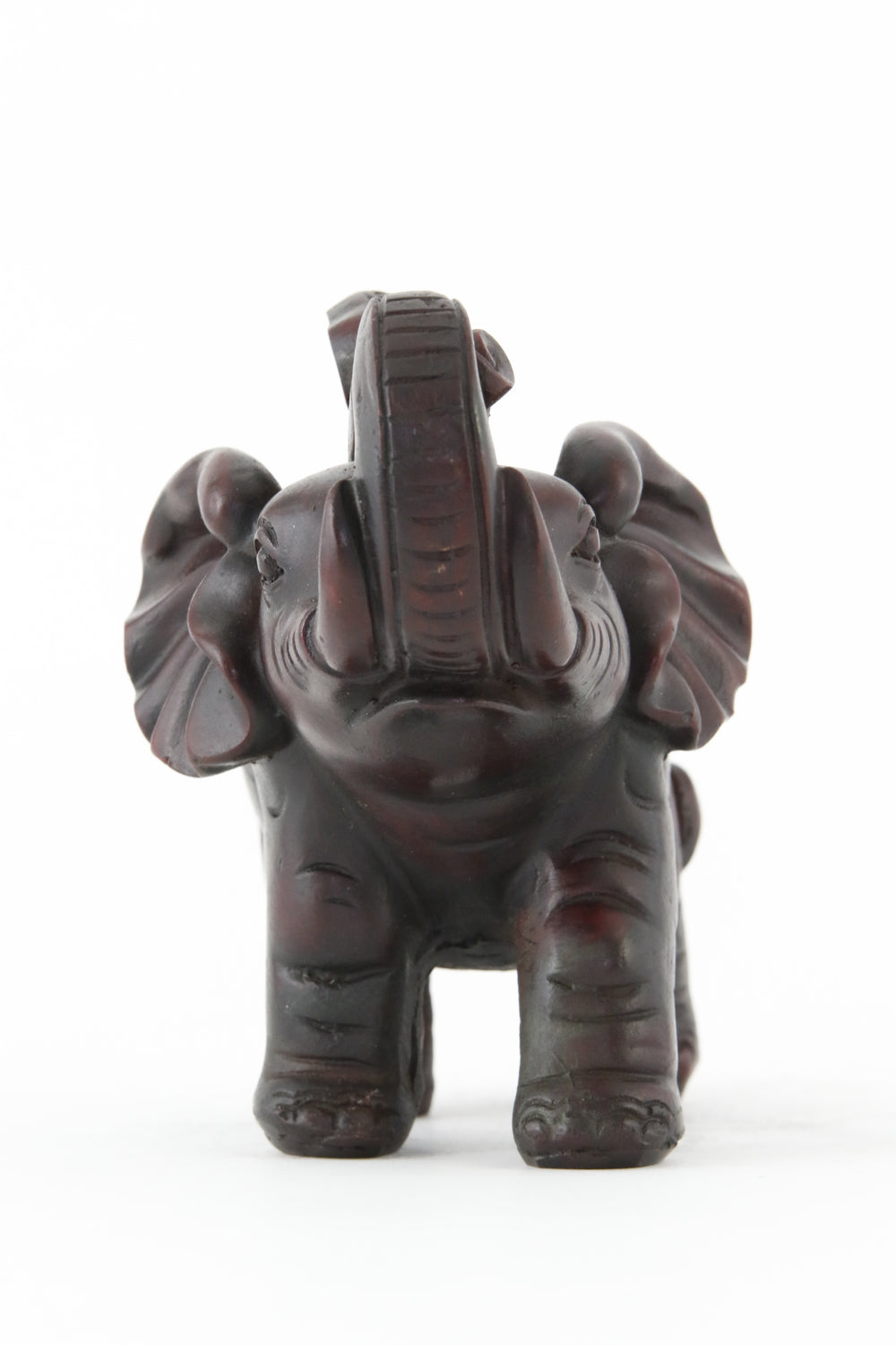 ELEPHANT PARADING STATUE DARK FRONT VIEW