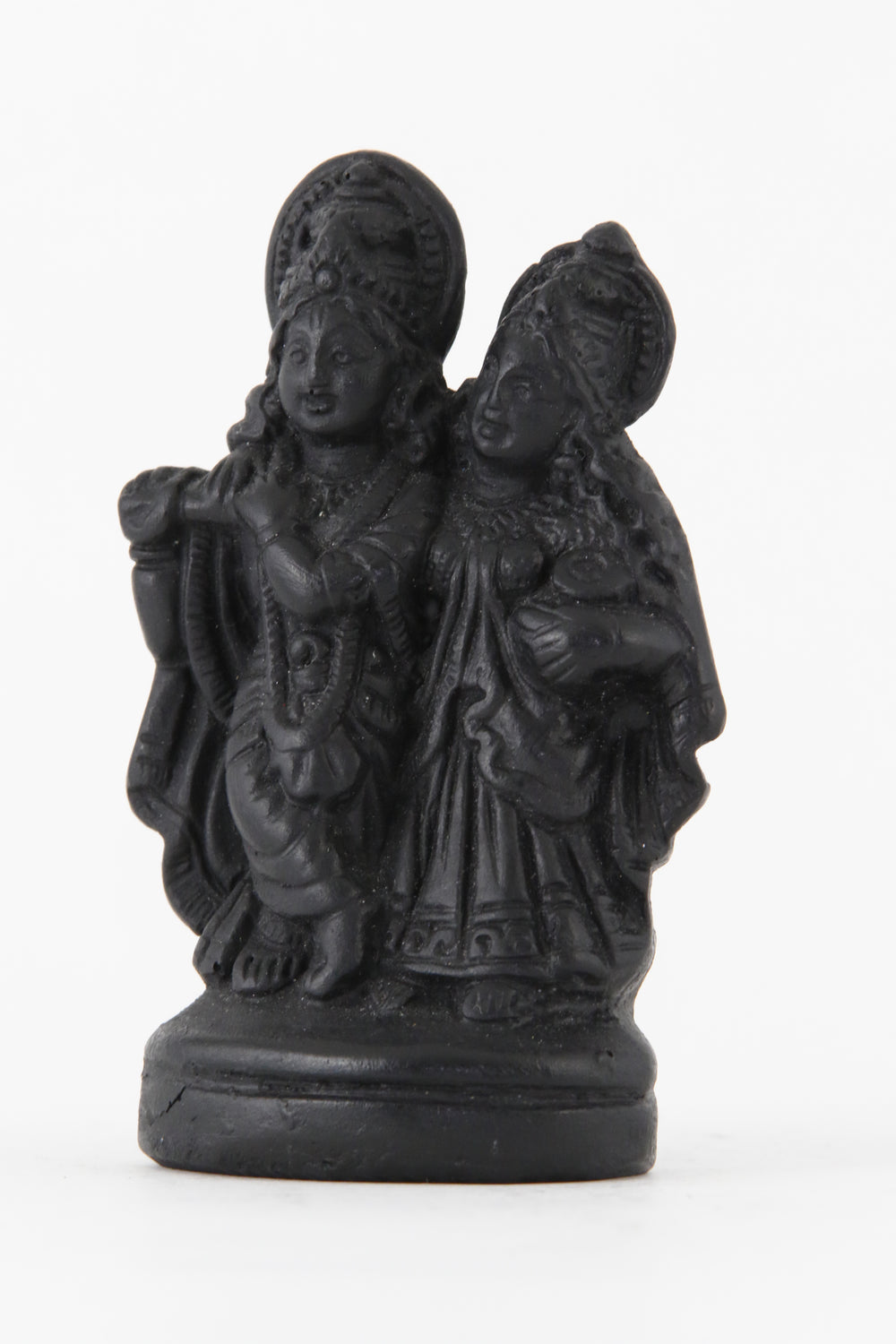 RADHA KRISHNA STATUE DARK SMALL SIDE VIEW