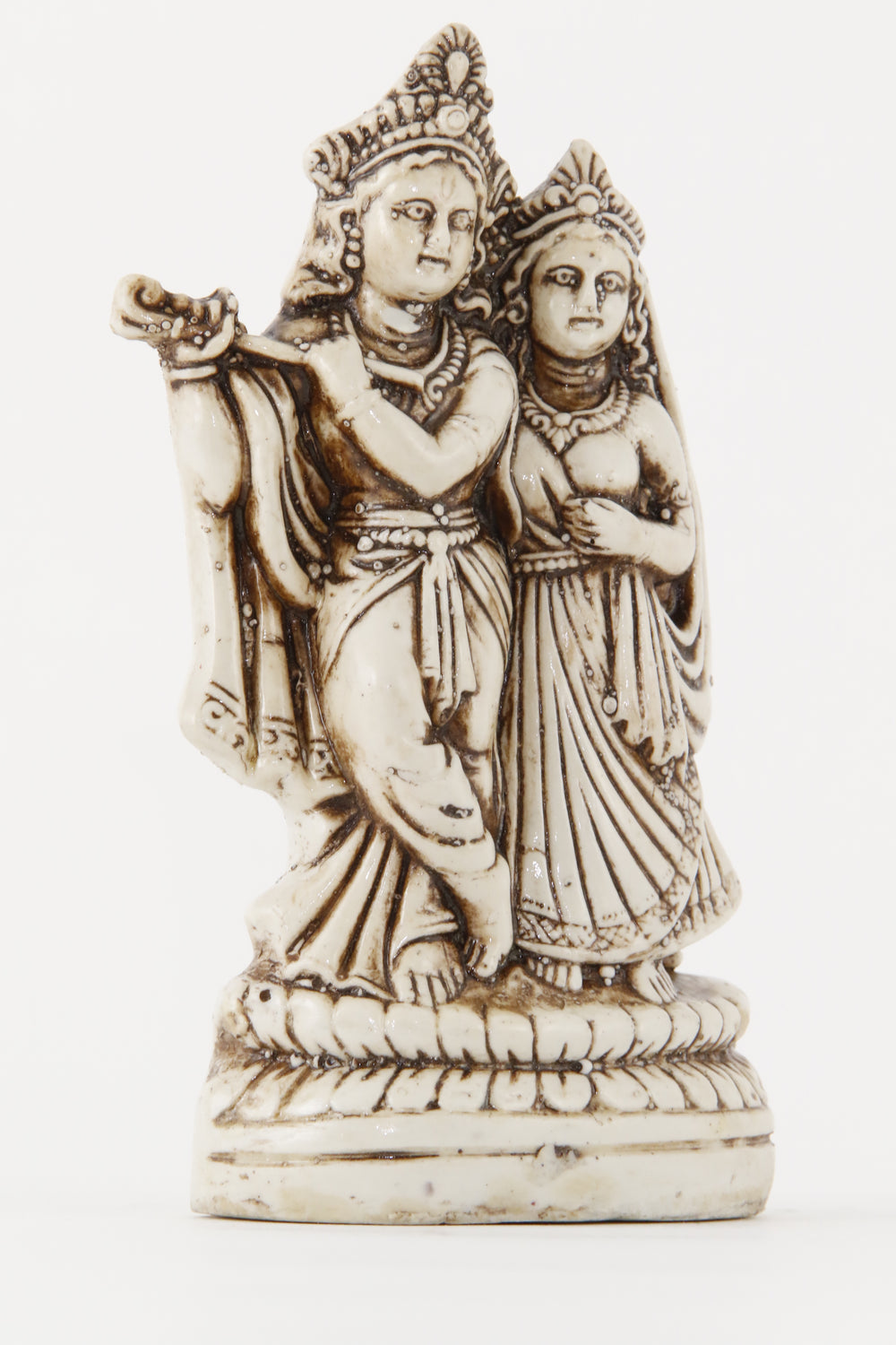RADHA KRISHNA STATUE OFF-WHITE SIDE VIEW