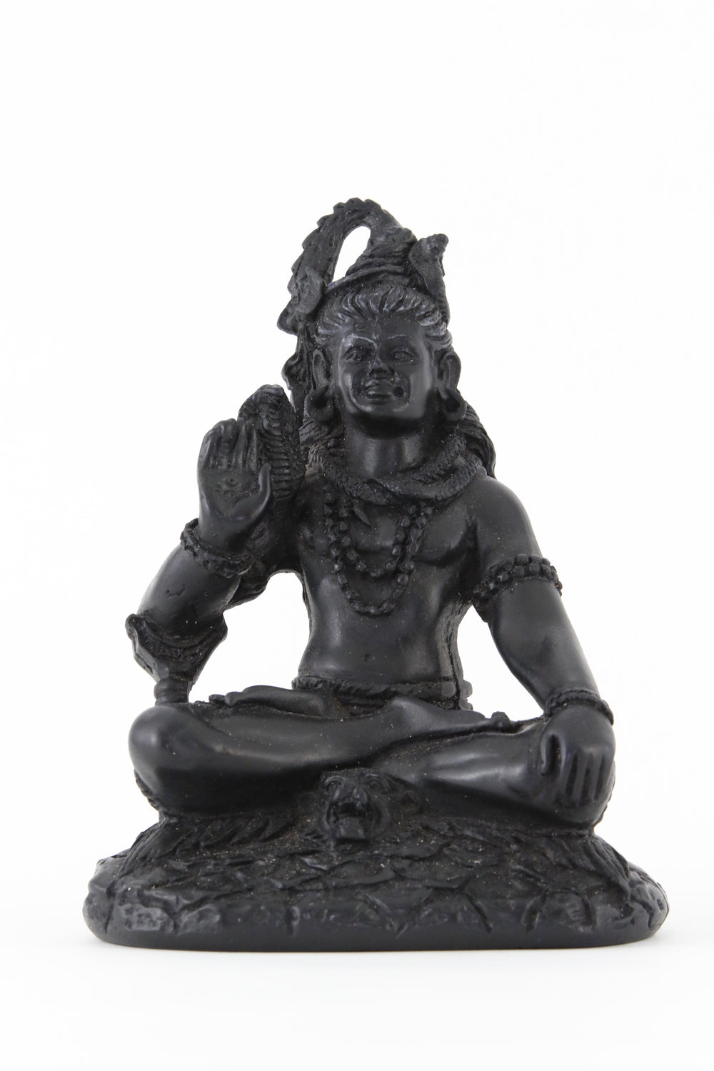 SHIVA BLESSING STATUE DARK FRONT VIEW