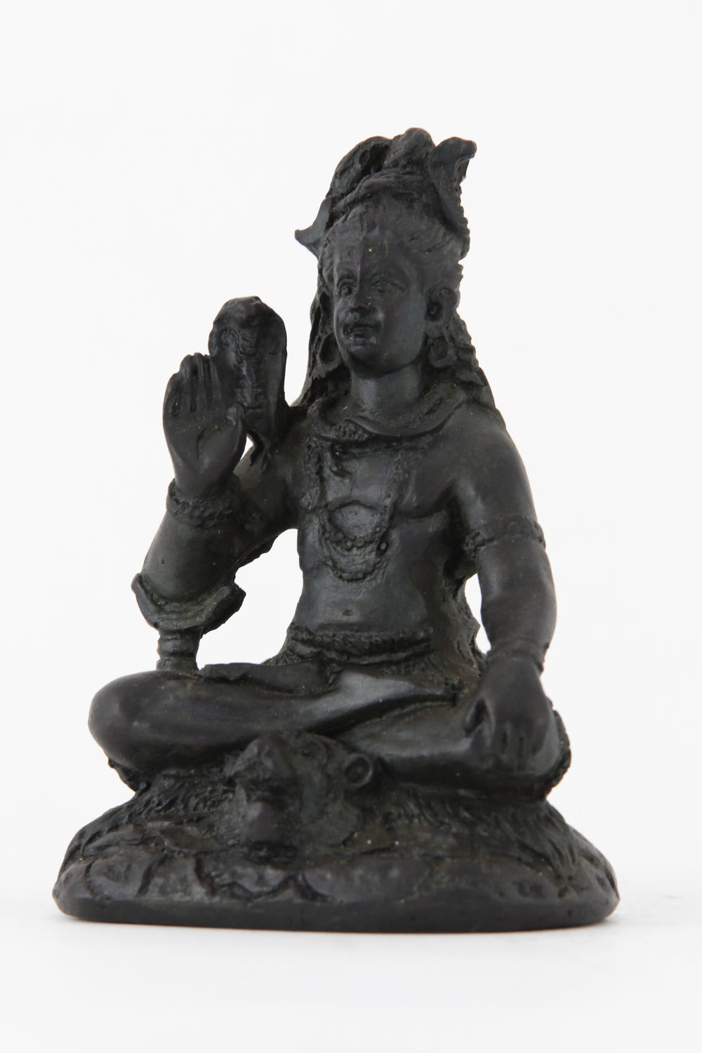 SHIVA BLESSING STATUE DARK SMALL SIZE SIDE VIEW
