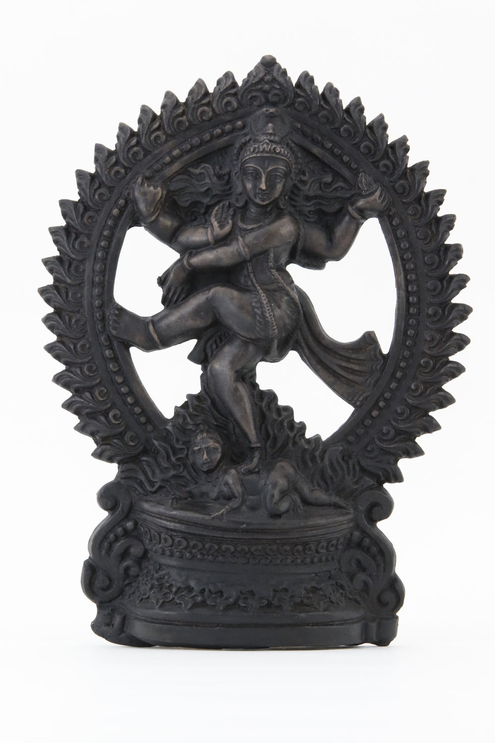 SHIVA DANCING POSE STATUE DARK FRONT VIEW
