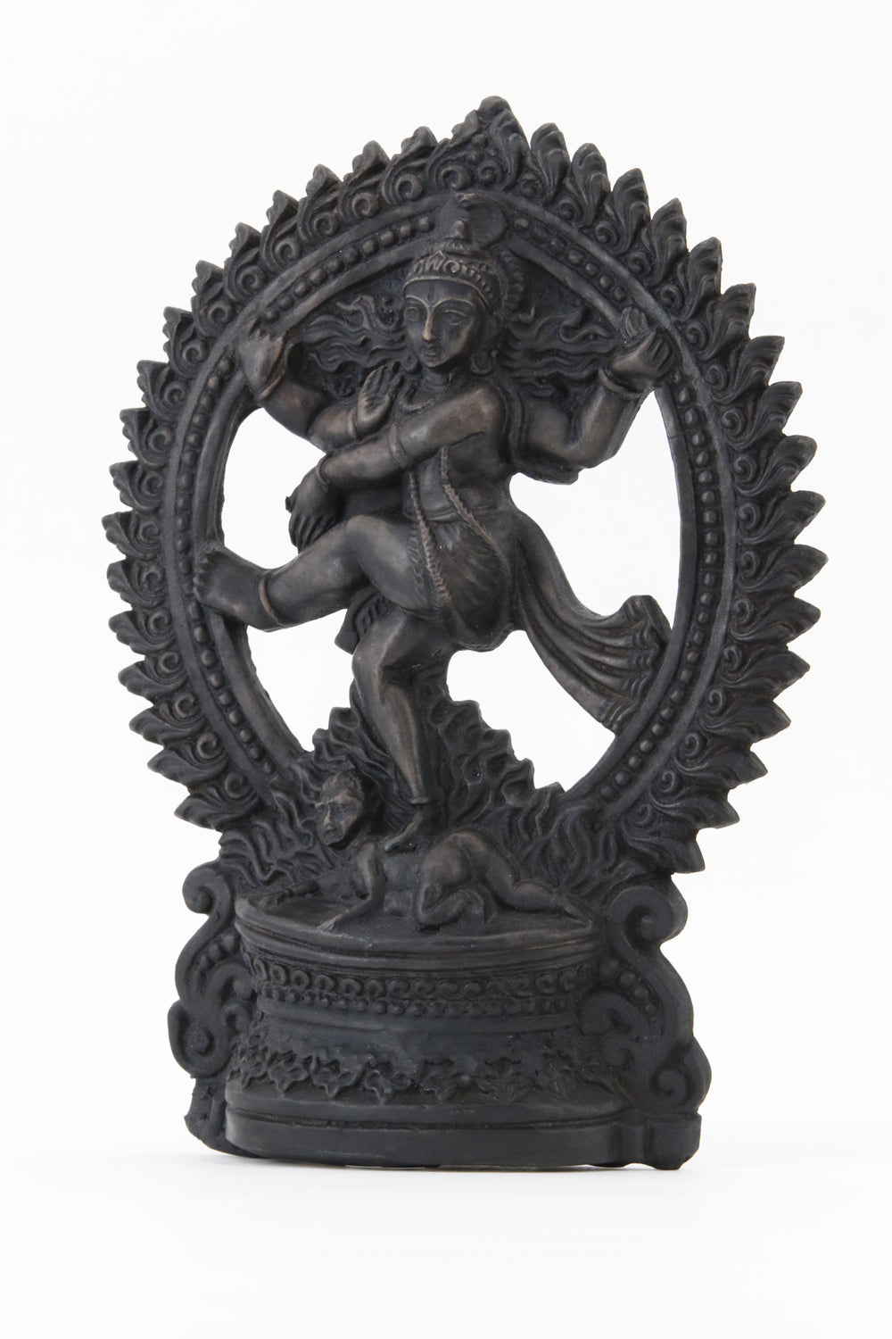 SHIVA DANCING POSE STATUE DARK SIDE 2 VIEW