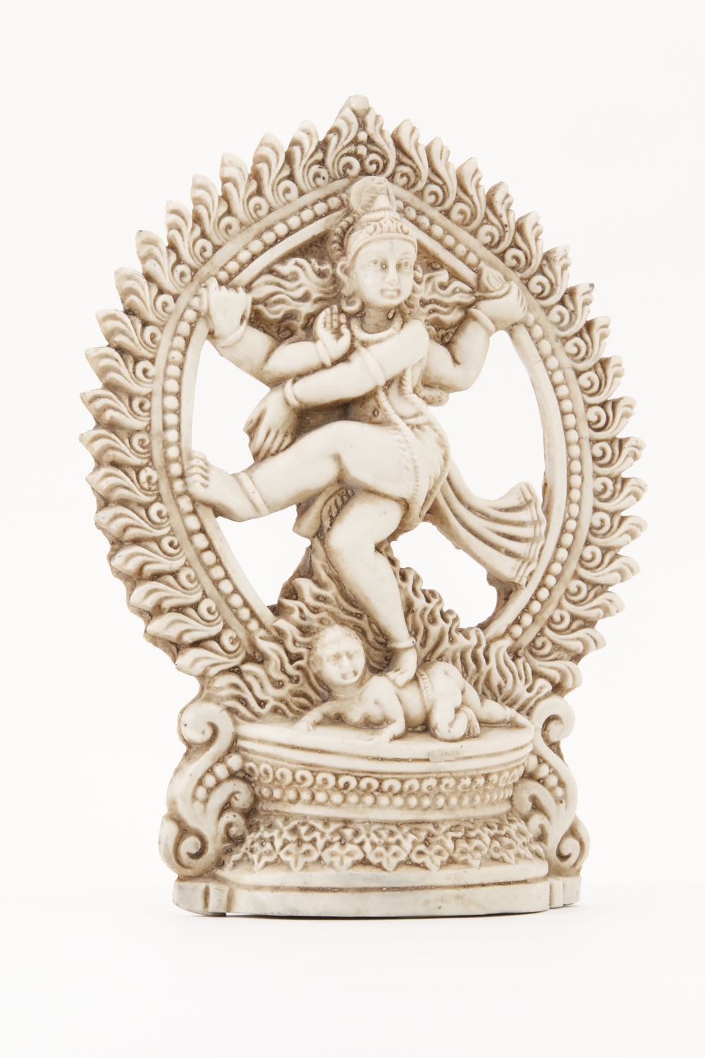 SHIVA DANCING POSE STATUE LIGHT SIDE 2 VIEW