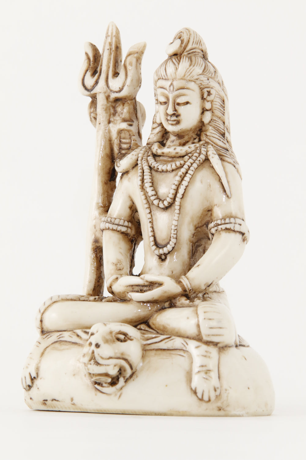 SHIVA TRIDENT STATUE OFF-WHITE SIDE VIEW