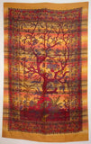 SPRING TREE OF LIFE GAUZY TAPESTRY GOLD