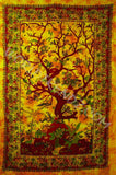 SPRING TREE OF LIFE TAPESTRY TIGHT WEAVE GOLD