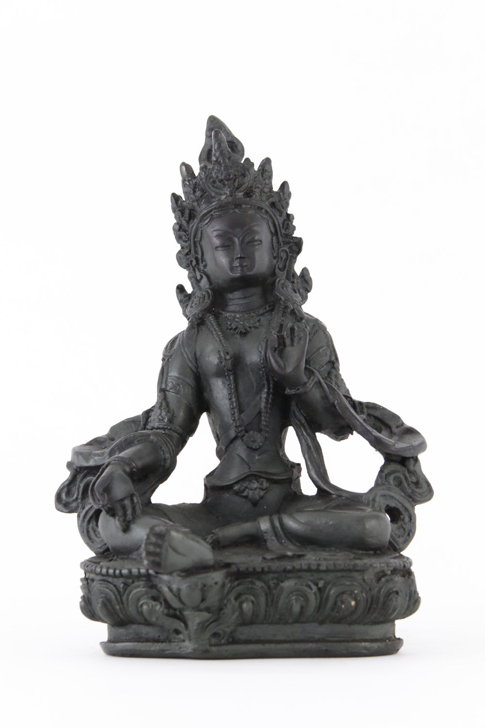 TARA BLESSING STATUE DARK LARGE SIZE FRONT VIEW