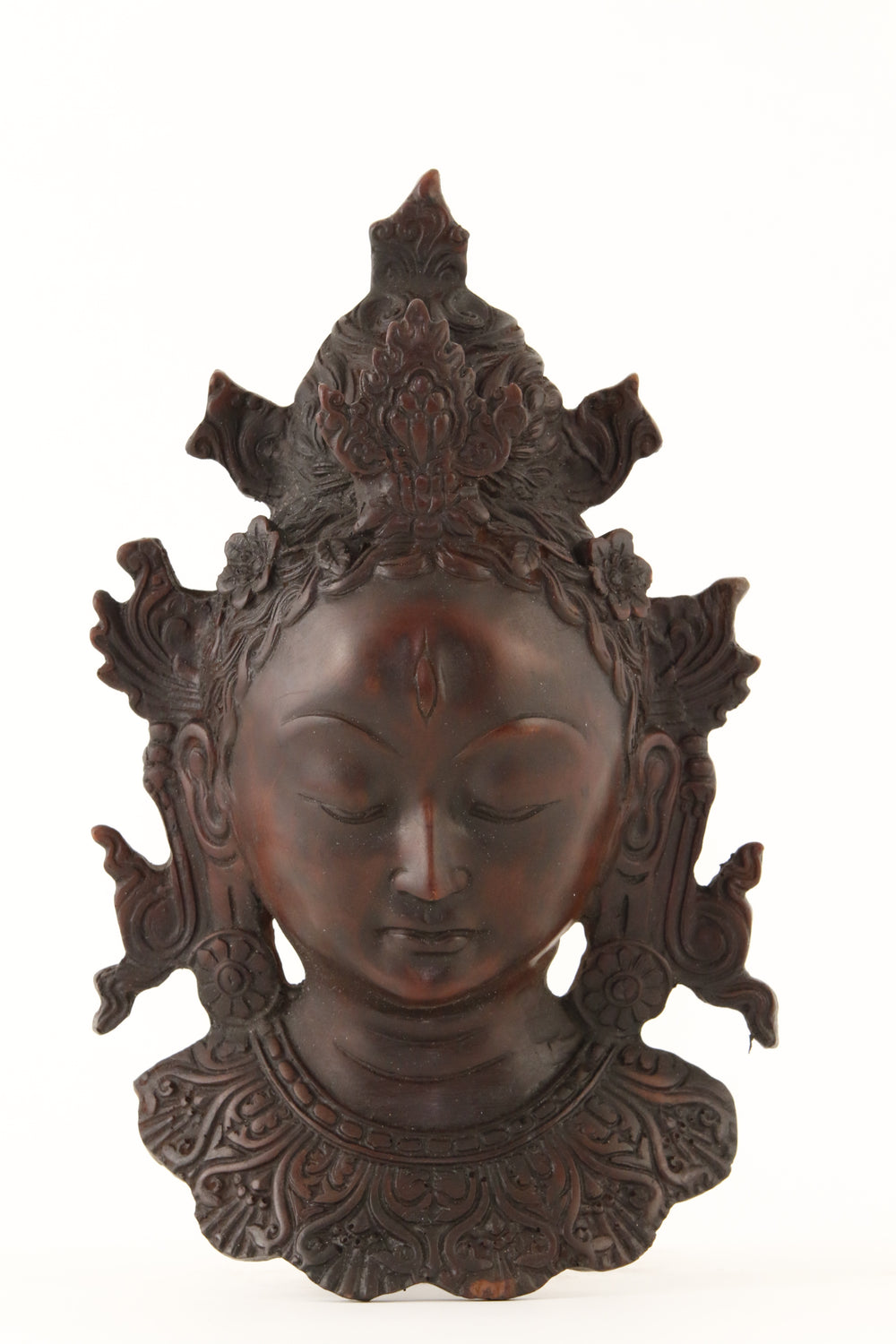 TARA WALL MOUNT STATUE DARK LARGE FRONT VIEW