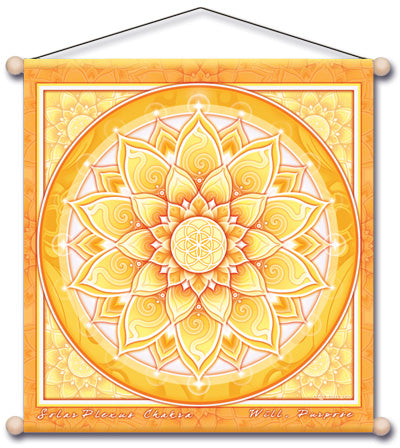 SOLAR PLEXUS CHAKRA YELLOW  MEDITATION TEMPLE BANNER WALL HANGING